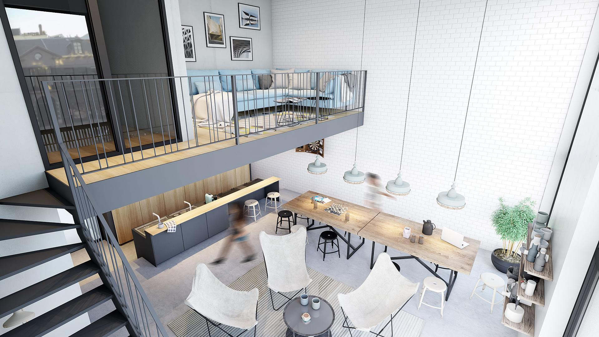 Duplex Gemeenschappelijk ruimte